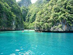Maya-Beach, Southern Thailand. This beach is the same one of the movie, The Beach.