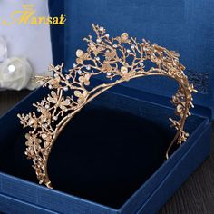 2016 New Trendy Vintage Gold Flower Bridal Crown Charming Rhinestone Tiaras for . - 2016 New Trendy Vintage Gold Flower Bridal Crown Charming Rhinestone Tiaras for Women Wedding Diade - Wholesale Hair Accessories, Bridal Hair Accessories, Jewelry Accessories, Jewelry Trends, Trendy Accessories, Jewelry Ideas, Bridal Crown, Bridal Tiara, Cute Jewelry