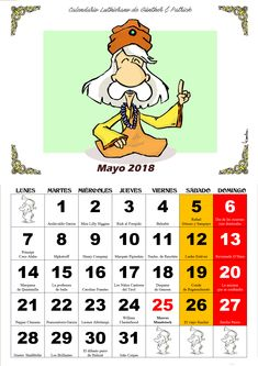 Mayo - Calendario Les Luthiers 2018