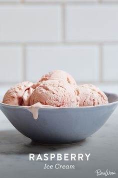 Raspberry Ice Cream via @PureWow