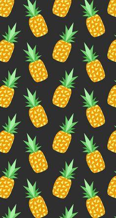 Abacaxi Pineapple Print, Tropical, Lemon, Cool Stuff, Drawing, Fruit, Wallpaper, Illustration, Artwork