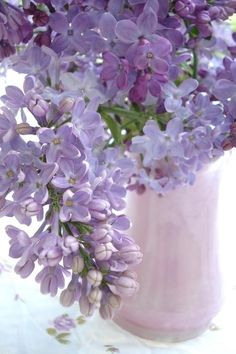 * Lilacs ~ All Things Shabby and Beautiful, Wish we could pin the fragrance, as well. Heavenly!