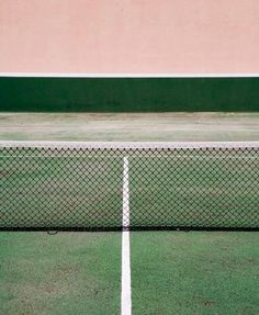 pink & green tennis court.