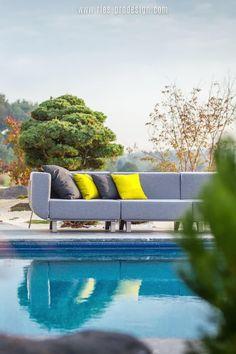 Die Modularität macht die Gartenmöbel Garnitur LOTOS besonders attraktiv und unterstützt die optimale Nutzung des Außen Raums.    Du erreichst uns unter dieser Nummer:     43 699 1599 0977    #gartenmoebel, #polstermoebelgarten, #RiesProDesign Outdoor Sofa, Outdoor Furniture, Outdoor Decor, Lounge Design, Modular Sofa, Home Decor, Garden Furniture Design, Patio Tables, Modular Couch