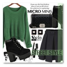 """""""Street Style"""" by pokadoll ❤ liked on Polyvore featuring Bobbi Brown Cosmetics, Chanel, Givenchy, Sheinside, shein and micromini"""