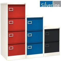Silverline Two Tone Executive Filing Cabinets Filing Cabinets, Building Design, Contemporary, Storage, Home Decor, Purse Storage, Decoration Home, Room Decor, Larger