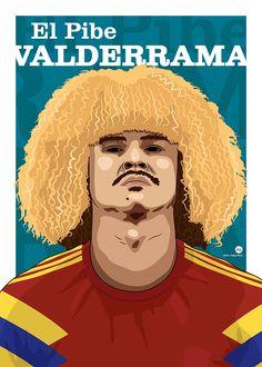 Carlos 'El Pibe' Valderrama. ©2013 - Vectorme.