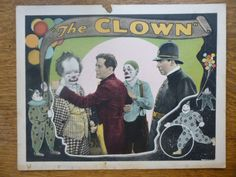 Lost 1916 Silent Film The Clown Lobby Card Victor Moore Thomas Meighan Circus | eBay