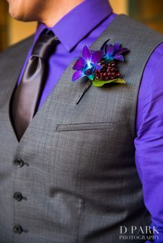 Love this look with the grey vest and purple shirt. Mister Penguin will be offering colored shirts in 2015