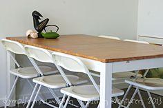 Ikea Bjursta table refinished