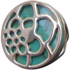 Vintage Round Blue Stone Sterling Silver Ring Thailand Size 5.5  https://www.rubylane.com/item/136230-E10991/Vintage-Round-Blue-Stone-Sterling-Silver#   found at www.rubylane.com #vintagebeginshere