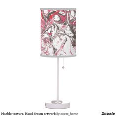 Marble texture. Hand drawn artwork Table Lamp  #Homedecor #Room #accessories #Interior #decorating #Idea #Styles #Home #stonetexture #paint #abstract