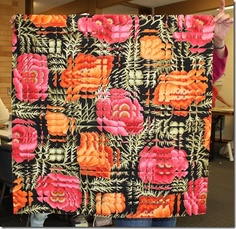 Cut it up within the repeat of the pattern, sew it back together and get this…want to try this! Ticstitches