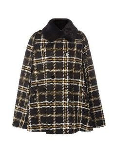 Dorothy Perkins Womens Black And Yellow Check Cape- Multi Black and yellow check cape. Length 84cm. 58% Polyester, 25% Acrylic, 9% Viscose, 4% Polyamide, 2% Cotton, 2% Wool. Machine washable. http://www.MightGet.com/january-2017-13/dorothy-perkins-womens-black-and-yellow-check-cape-multi.asp