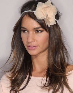 How stunning is her look, #long brown straight #hair styles with this beautiful accessory to compliment it!  VISIT US FOR #HAIRSTYLES, IDEAS AND INSPIRATION WWW.UKHAIRDRESSERS.COM