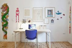 workspace | a touch of blue