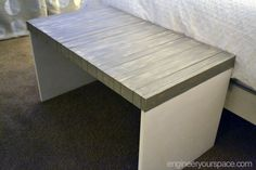IKEA-bench-makeover-after Great idea I have one and the surface is cracking so perfect solution! Coffee Table Ikea Hack, Coffee Table Bench, Restoration Hardware Paint, Furniture Restoration, Ikea Bench, Ikea Stuva, Desks For Small Spaces, Best Ikea, Ikea Hacks