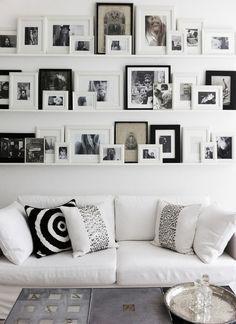 Fotowand - Fotoleisten - Bilderwand - Bilderleisten - schwarz-weiß