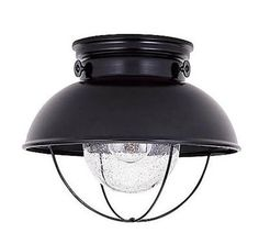 Above: The Sebring Outdoor Ceiling Light (shown in black) is $95.40 at CSN Lighting.