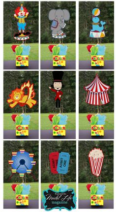 CIRCUS CARNIVAL FAIR Party Centerpiece 3 feet tall by playpatterns, $35.00