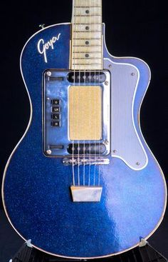 Vintage 1960 Goya Hagstrom Model 80 Standard - Blue Sparkle Guitar