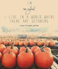 I love you October.