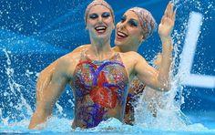 Muito brilho e elegância nos maiôs do nado sincronizado - Fotos - UOL Olimpíadas 2012