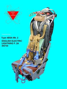 Port Side View of restored Lightning Martin Baker Ejection Seat from English Electric Lightning F2A XN730