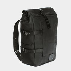 Backpack Black Twill / Black Leather