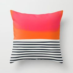 Sunset Ripples Throw Pillow by Fox And Velvet - Cover x with pillow insert - Indoor Pillow Throw Cushions, Couch Pillows, Outdoor Throw Pillows, Designer Throw Pillows, Down Pillows, Accent Pillows, Cushion Cover Designs, Orange Pillows, Tiny House Living