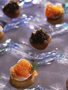 Smoked salmon canapes w/ wasabi creme fraiche. Easy and delicious