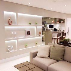 Easy Home Decor For Everyone Interior Design Living Room, Living Room Designs, Home Room Design, House Design, Designer Bed Sheets, Shelving Design, Home Altar, Easy Home Decor, House Rooms