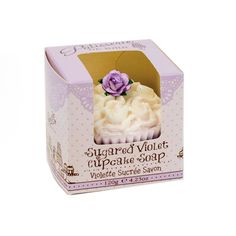 """Patisseries de Bain"" Cupcake Soap Sugared Violet from Putti Fine Furnishings"