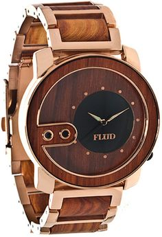 wooden watches for men | Flud Watches The Exchange Wood Watch in Black for Men (gold)