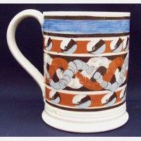 English Mocha Ware Mug,ca. 1830 Fryling's Antiques