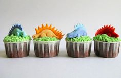 The cutest dinosaur cupcakes ever by A Baked Creation!