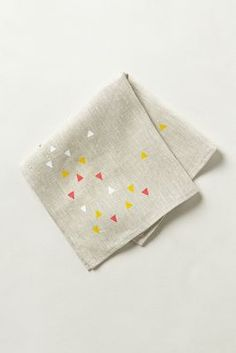Love this linen napkin. Cute and contemporary geometric print on it. - Anthropologie