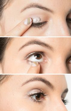 To create a speedy smoky eye, dip your finger in a cream eye shadow and wipe it across your eyelid and right under your bottom lashes.