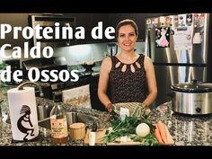 Caldo de ossos: receita rejuvenescedora. - YouTube Slow Food, Low Carb, Healthy, Lactose, Diabetes, Youtube, Crochet, Bone Marrow Broth, Hair And Nails