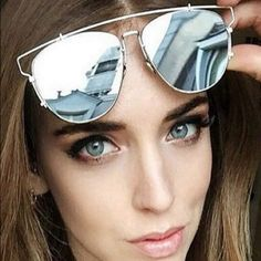Oversized Silver Mirror Metal Sunnies Sunglasses Price is firmNo offersGorgeous!!  Brand new!  Still in manufacturer packaging. High quality!  Oversized silver metal mirror sunglasses. Flat lenses and plastic temples.  Price is firm.  No trades.  More pics coming soon. Boutique Accessories Glasses