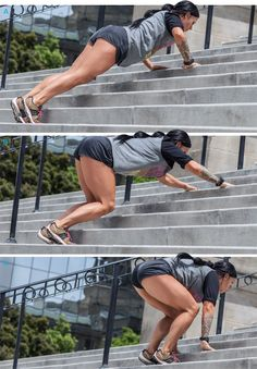 Ashley Horner's Sucking-Wind Stair Workout! - Bodybuilding.com