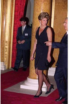 Princess Diana, circa 1993-5. Little black brass and pearls.