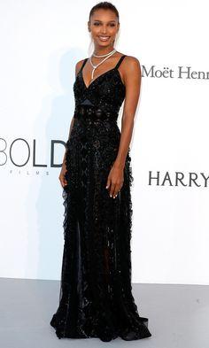 Best Dressed Stars on Cannes Red Carpet 2017 - Jasmine Tookes in Zuhair Murad