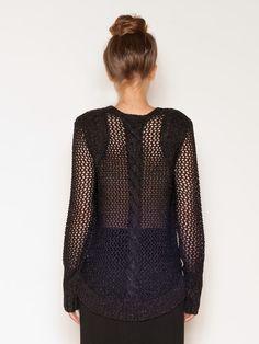 Sass and Bide Black Chunky Metallic Sweater