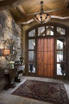 Rustic Entryway, Entryway Decor, Rustic Decor, Entryway Ideas, Rustic Italian Decor, Entrance Ideas, Tuscan Decor, House Entrance, Entry Foyer