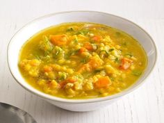 Get Slow-Cooker Sweet Potato and Lentil Soup Recipe from Food Network