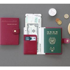 ICONIC Snap button passport case gives you an enough room to keep your boarding…