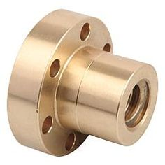 Ecrou trapézoïdal avec collerette pas simple, filetage à droite ou à gauche // Trapezoidal thread flange nuts single-start, RH or LH thread // REF 24005