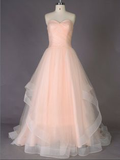 long chiffon sweet heart peach cheap quinceanera dress | Cheap bridesmaid dresses Sale