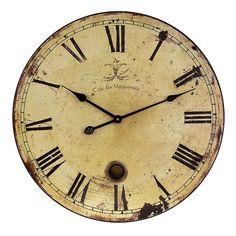 "Found it at Wayfair - 23"" Wall Clock in Antique http://www.wayfair.com/daily-sales/p/Accent-Furniture-Clearance-23%22-Wall-Clock-in-Antique~IMX1093~E18272.html?refid=SBP.rBAjD1UbAWxhcV4cC4NMAm9wGw0ig0P9rSfyGDxHKW8"